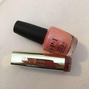 Milani Lipstick and OPI Nail Polish Bundle